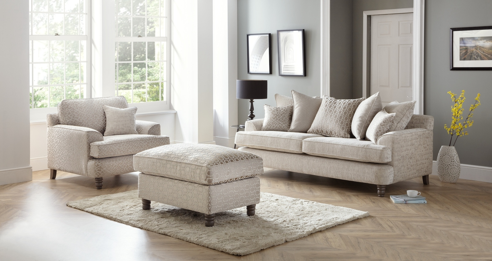 Murano Sofa and Chair set